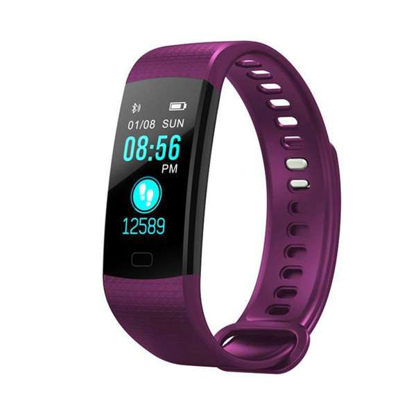 1pcs wholesale Y5 Smart Band Watch 6 Color Screen Wristband Heart Rate Activity Fitness tracker Smart Bracelet