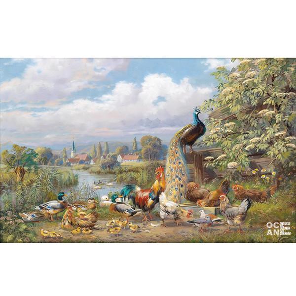 Tavuskuşu ve horoz İğne 3d elmas tam taklidi nakış hayvanlar 3d elmas boyama ördek kare matkap mozaik C400