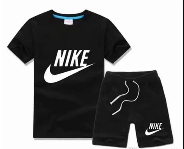 Erkek ve kız çocuk takım elbise çocuk T-Shirt ve pantolon çocuk pamuk suit erkek bebek kız yaz suit bebek spor