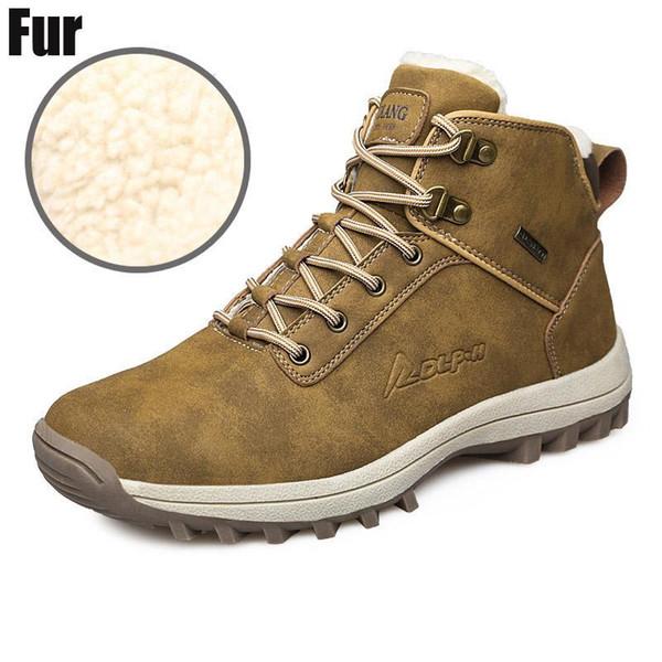 Compre Al Por Mayor Botas De Hombre Botas De Cuero De Alta Calidad Impermeables Antideslizantes Zapatos De Invierno Para Hombres Tallas Grandes