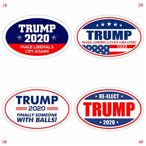 best selling Donald Trump Sticker Refrigerator Sticker 2020 Presidential Election Wall Stickers Keep Make America Great Decal Stickers For Car VT0515