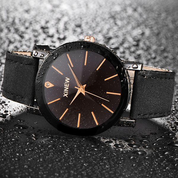 Montre Homme Reloj Hombre 2018 Men Women Leather Strap Line Analog Quartz Ladies Wrist Watches Fashion Watch