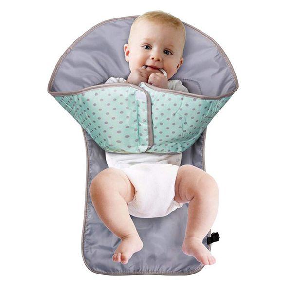 Cambio de pañal para bebé Estera de almohadilla portátil plegable Lavable Compacto Pañal de viaje Impermeable Alfombra de piso para bebés Cambio de juego Cuidado