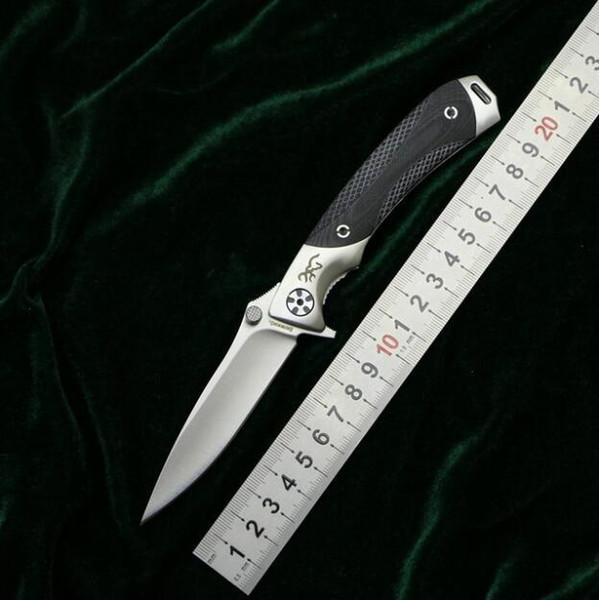 Браунинг небольшой карманный складной нож 9cr18mov 58-59HRC лезвие деревянной ручкой ручка тактическая охота выживания практический инструмент EDC серии