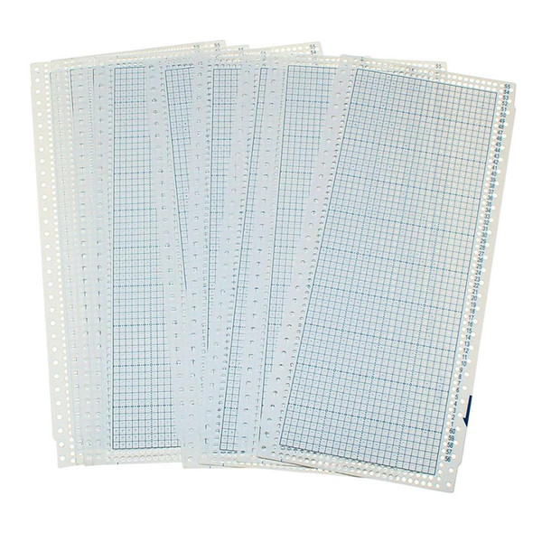 10sheet 24 Stitch Punch Card and 2 Plastic Clips for Knitting Machines Punch Cards DIY Sweater Hand Crafts Accessory