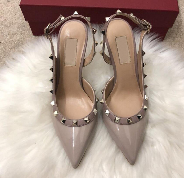 Naked gray patent leather