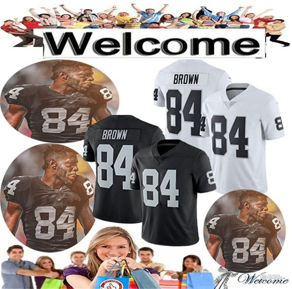 the latest c3e92 01c64 Men'S 84 Antonio Brown Raiders Jersey Mens Youth 2019 New 4 Derek Carr 24  Marshawn Lynch 34 Bo Jackson Oakland # Raiders Football Jerseys UK 2019  From ...