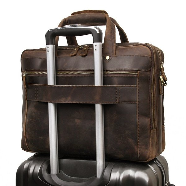 Men Briefcase Large Capacity Business Briefcase Durable Fashional Laptop Bag Classic Handbag For Business Men Cow Leather Bag