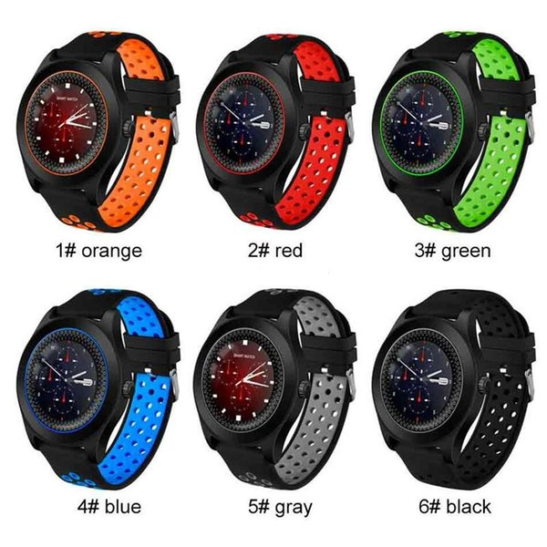 best selling New TF8 Smart Watch with Round Screen Camera Sports Strap Fitness Watch Support Memory Card SIM Card Bluetooth Phone Smartwatch