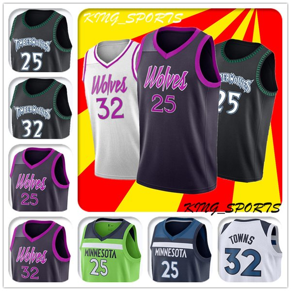 best website 65e5f a44b3 2019 Derrick Rose Jersey Timberwolves New City Edition Jersey 25 Derrick  Rose Jersey 32 Karl Anthony Towns Jerseys 22 Andrew Wiggins Jersyes From ...