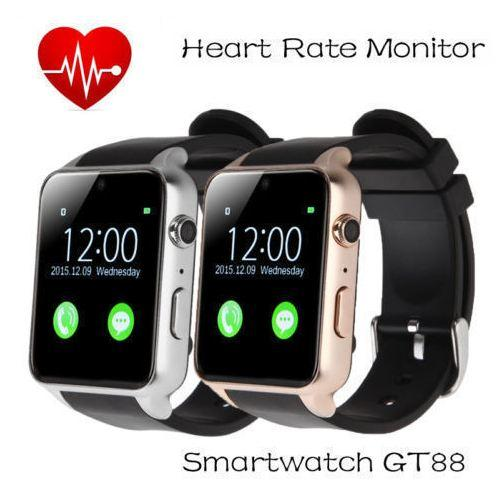 Original Heart Rate Monitor Bluetooth waterproof Smart watch GT88 Smartwatch Support SIM Card For IOS Android pk apple watch