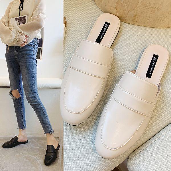 Chinelas Zapatos de mujer Chanclas de lujo Zapatillas de mujer 2019 Mocasines Nudo de mariposa Socofy Low Cover Toe Designer New Summer Soft