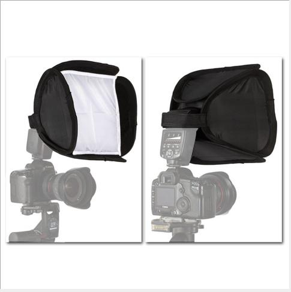 Equipamento de fotografia DSLR camera top flash light box e capa de luz