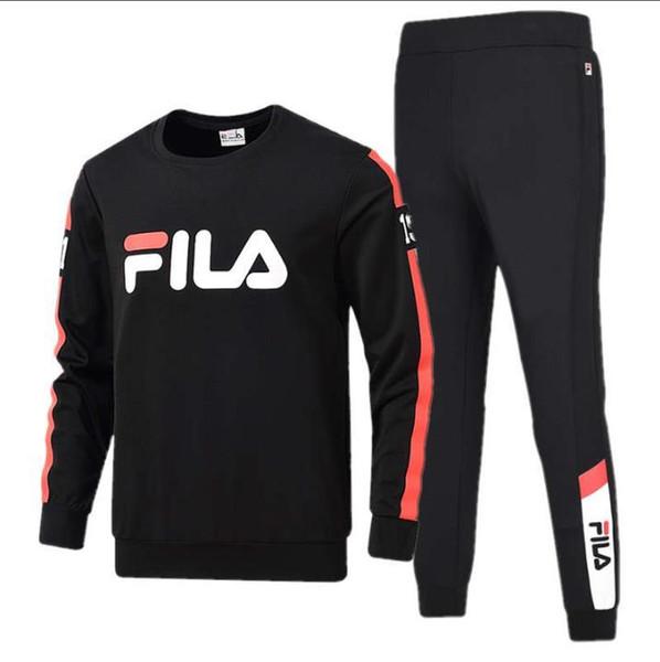 Бестселлер новый мужской осенне-зимний спортивный костюм мужской с длинными рукавами пары свитер отдыха из двух частей