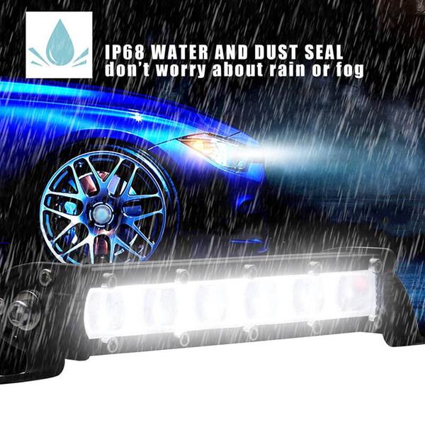 60W 7 pulgadas DRL Barras de luces de trabajo led Spot Flood Beam Motocicleta Offroad SUV 4x4 ATV Luces de circulación diurna 12 24V 6000K