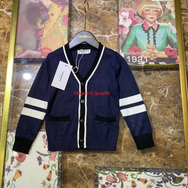 designer chandail enfants vêtements pour garçons automne nouveau coton tricoter pull cardigan conception pull matériel doux et confortable