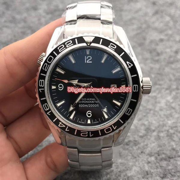 2019 новые роскошные модные мужские часы автоматические механические кожаные часы из нержавеющей стали синий черный 43 мм складная пряжка модные наручные часы