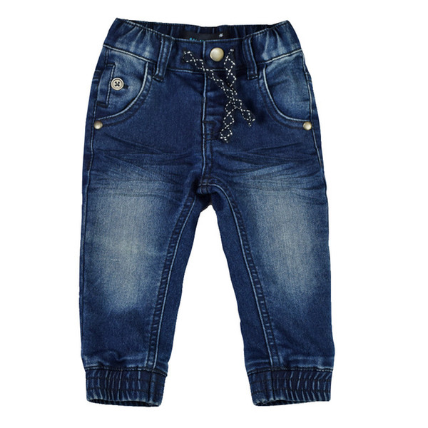 Baby Jeans Boys Girls Pants Newborn Trousers Infant Denim Soft Harem Leggings Solid Joggers New Year Warm Baby Clothing