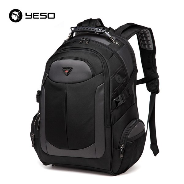 Yeso Brand Laptop Backpack Men's Travel Bags 2019 Multifunction Rucksack Waterproof Oxford Black Computer Backpacks For Teenager J190425