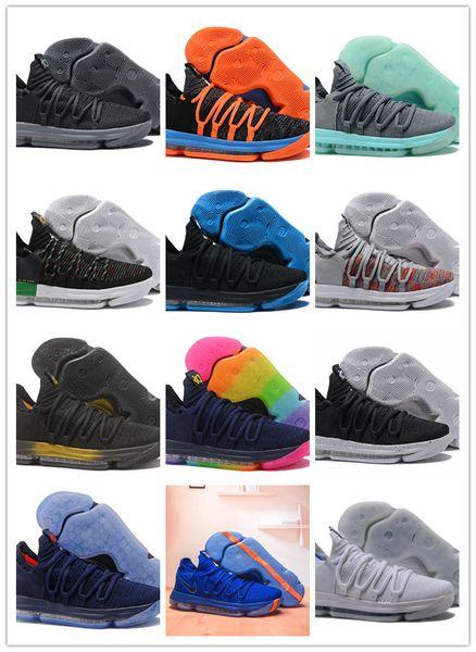 2019 Whte Le KD 10 EP Kevin Durant 10 X 22 Couleurs Hommes Chaussures De Basket-Ball Pas Cher Vente Chaussures De Jeu Pour Hommes KD 10 Sport Baskets Taille 40-46