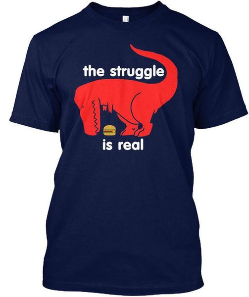 T Rex Der Kampf ist echt - Hanes Tagless T-Shirt
