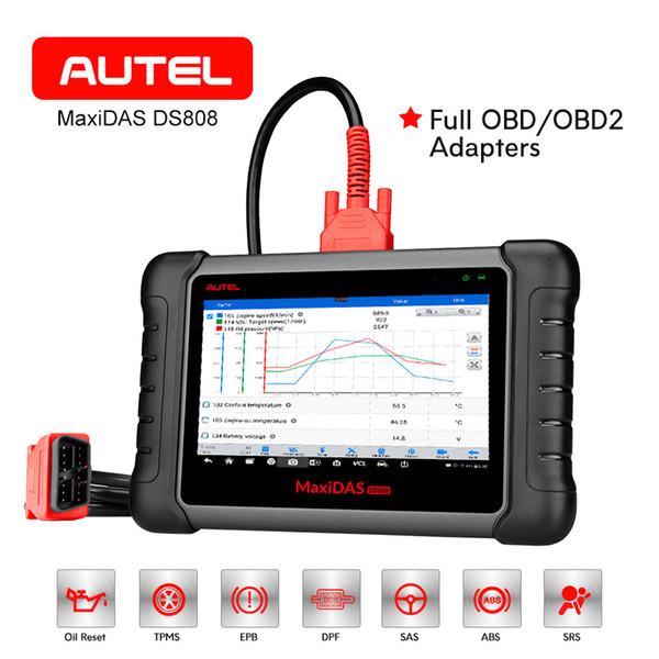 AUTEL MaxiDAS DS808 OBD2 Scanner Outil De Diagnostic De Voiture Clé Automobile Programmation ABS ECU Codage Lecteur De Code PK MS906 DS708