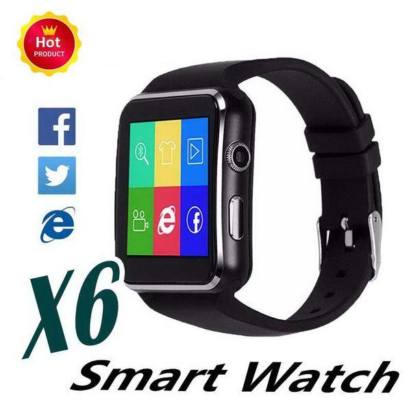 New X6 Bluetooth Smart Watch Passometer Fitness Tracker Multi function SmartWatch Kids Gift Man Women Sports Wrist Watch