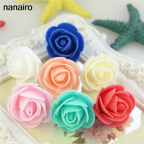 30pcs Cheap Mini PE Foam Rose Flower Head Artificial DIY Flowers Ball For Wedding Home Decoration Festive Home Party Supplies