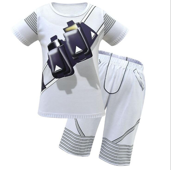 Sommer neue DJ Marshmello Rock'n'Roll Peripherie T-Shirts und Shorts Hosen Kinder Trainingsanzüge Kinder Sport Anzug 2 Teile / sätze