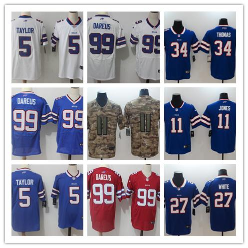 best loved 0eb7b a1298 2018 Mens 11 Zay Jones Jerseys Buffalo Bills Football Jerseys 100% Stitched  Embroidery 99 Marcell Dareus 5 Tyrod Taylor Color Rush Football Shirt From  ...