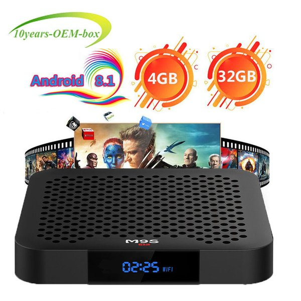 M9S J2 Android 8.1 TV Box Rockchip RK3328 4GB 32GB 1080P H.265 Google Player Store Netflix Youtube 4K UHD video IPTV streaming Media Player