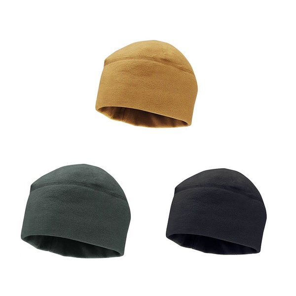 New Unisex Winter Soft Warm Watch Cap Polar Fleece Thickened Army Beanie for Outdoor Camping Mountaineering Men Solid