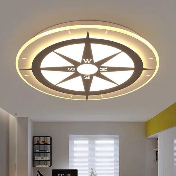 Plafonnier post-moderne Simple lampe de salon moderne Atmosphérique acrylique LED lampe de chambre créatif nordique lumière Le-90