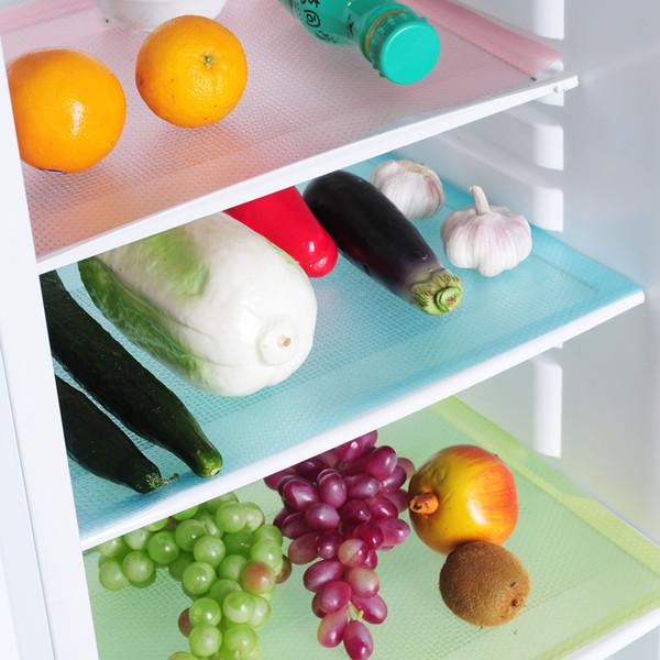4 Teile / satz Kühlschrank Pad kann geschnitten werden tischset Matte Antibakterielle Antifouling Mehltau Feuchtigkeitsaufnahme Pad Kühlschrank Wasserdichte Matten