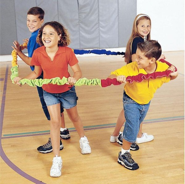 Team Cooperation Work Develop Outdoor Sport Toy Elasticity Rope Circle Southeast northwest Running Push Game Sensory Integration 2M to 5M