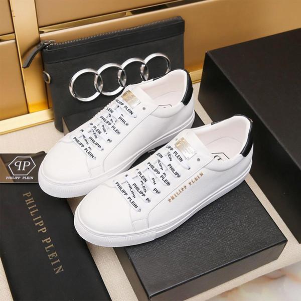 2019c famoso lusso di alta qualità scarpe casual da uomo stampa modello di logo in vera pelle lace up scarpe sportive piattaforme scatola originale € 38-44