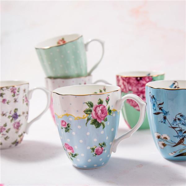 Porcellana tazza e tazza del latte della prima colazione di ceramica della grande tazza di ceramica dell'osso pastorale inglese reale delle tazze Trasporto libero