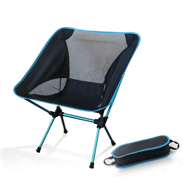 2019 Portable Camping Beach Chair Lightweight Folding Fishing  Outdoorcamping Outdoor Ultra Light Orange Red Dark Blue Beach Chairs  CJ191116 From ...