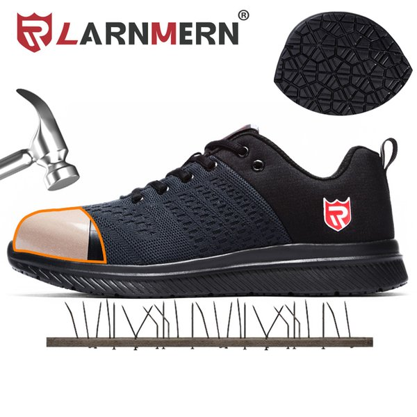 LARNMERN Steel Toe Work Safety Shoes For Men Classic Sneakers Boots