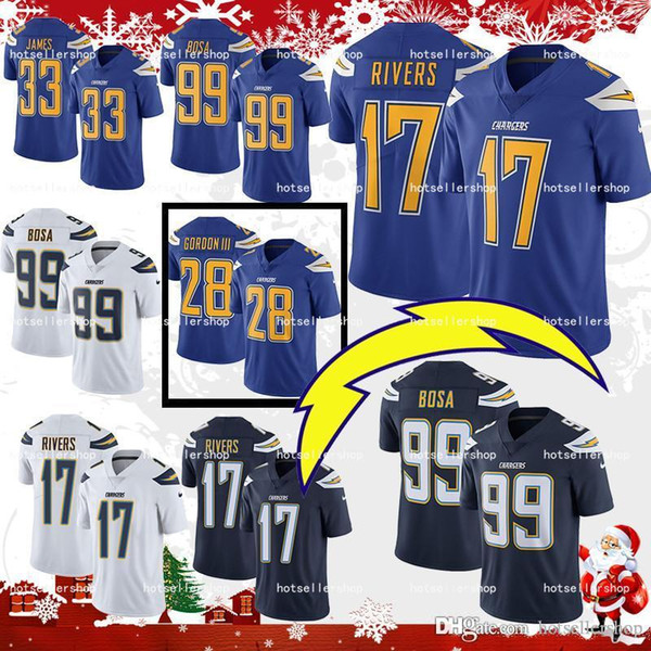 f420f3f6 los angeles chargers football jerseys 33 Derwin James 99 Joey Bosa 28  Melvin Gordon 17 Philip