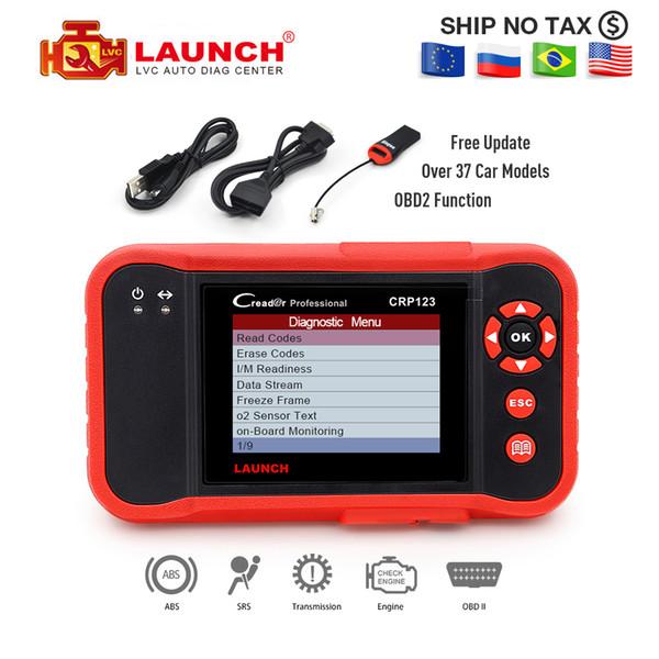 5pcsc Launch CRP 123 OBD2 Code Reader Update Online X431 Creader CRP123 ABS,SRS,Transmission,Engine Scanner VII+