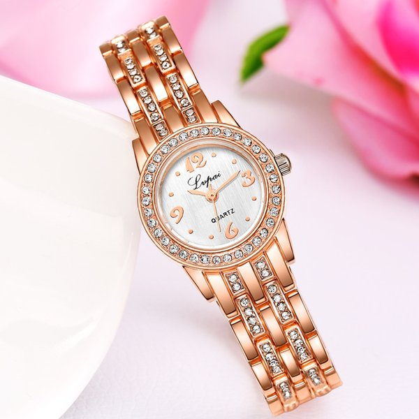 LVPAI Hot Sale Gold Women Watches Bracelet Watch Quartz Wrist Watch Women Fashion Luxe Dress Watches Female Clock #A