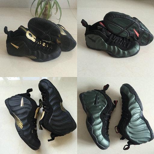 2019 Penny Hardaway Pro Mousses Armée Vert Noir Métallique Or Chaussures de Basketball Pour Hommes Mousse Top qualité Hommes Classique Sport Sneaker Taille 40-47