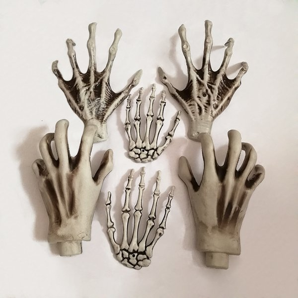 Halloween Skeleton Hands Witch Hands for Decrating Plastic Bar Haunted House Decoration Halloween Horror Props Decoration 1 Pair