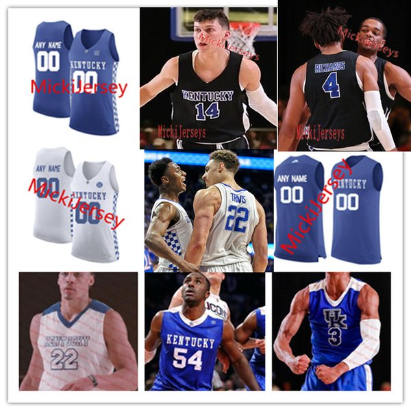 Özel Kentucky Wildcats Basketbol Forması Reid Travis EJ. Montgomery PJ. Washington Jr. Brad Calipari, Zan Payne'in Kentucky Wildcats Forması