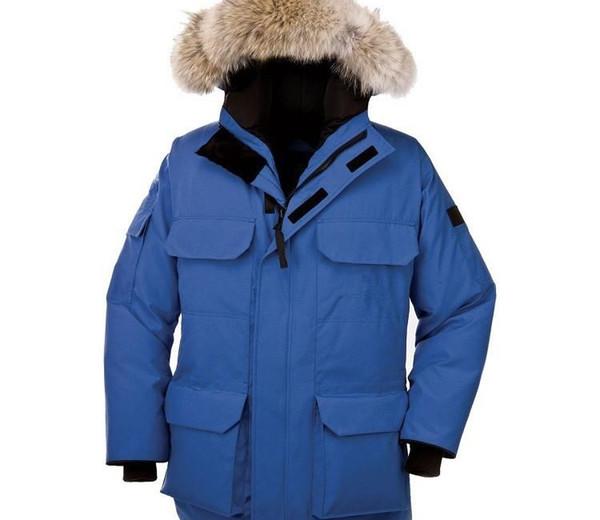 Mens конструктора зимние пальто Фирменные вниз Parka с длинным рукавом с капюшоном Канада Outerwears с Меха Asian Размер XS-2XL