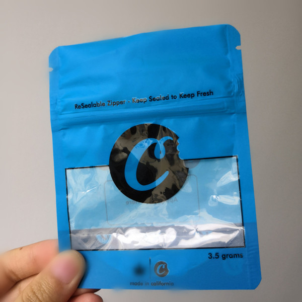 COOKIES California SF 8th 3,5g Mylar Sacchetti a prova di bambino 420 Confezioni Confezionate Confezione Bag Sacchetti da 3.5g-1/8