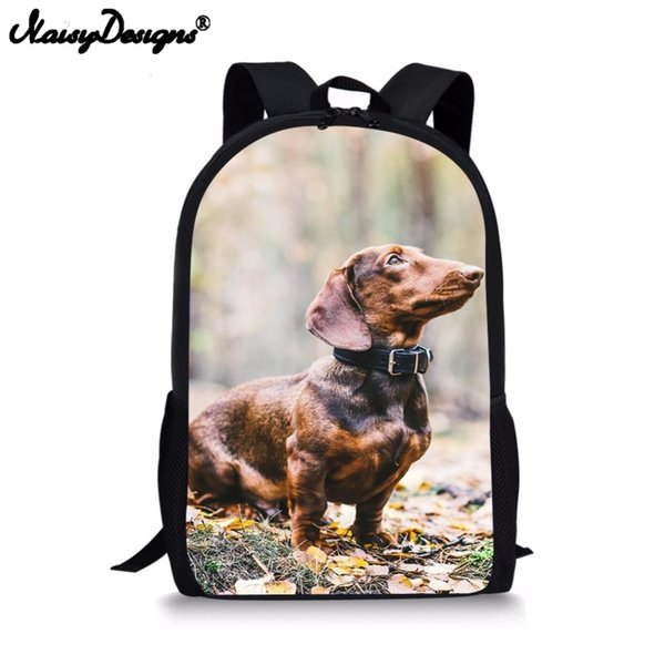 Travel Laptop Backpacks 3D Dachshund Dog Pringt Fashion Girl Boy Costom school bag Kid Bookbag For man women Daily Shoulder Bags