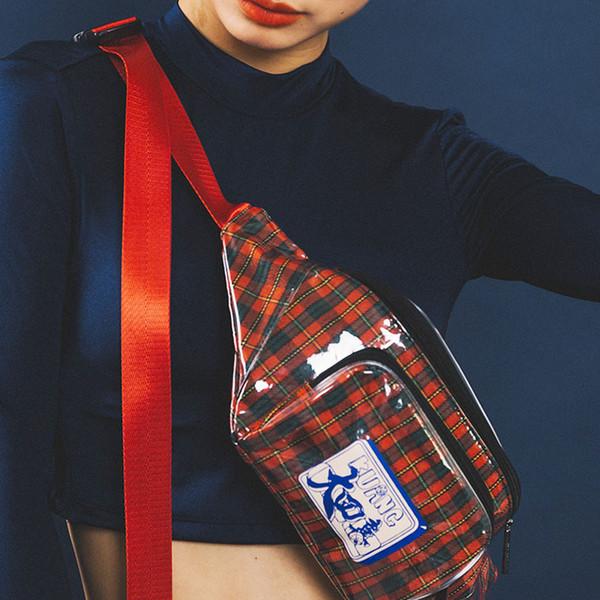 Kadın Göğüs Çanta Sokak Tarzı Omuz Çantası Moda Pvc Rahat Bel Paketi Bacak Kafes Fanny paketi Kız Messenger B196 Paketleri
