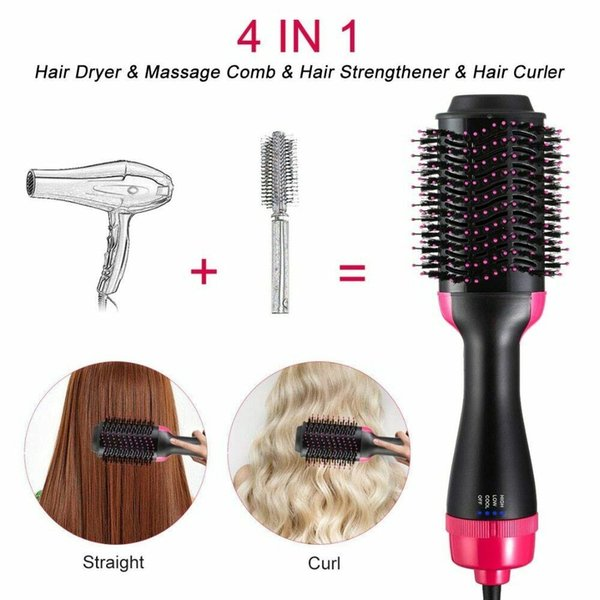 2019 professional Blower Electric Hair Dryer Multi Function Hot Air Brush Curling Iron Rotating Hairdryer Comb styling tools